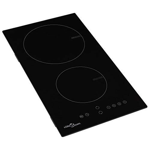 Tidyard- Placa vitrocerámica de inducción 2 quemadores táctil 3500 W