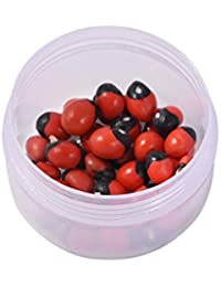 Sumitra Gems Natural Red Chirmi Seeds Gunja Seeds Set Of 21 Pieces For Puja, Worship, Protection