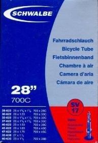 SCHWALBE Fahrradschlauch SV17 mit Sclaverantventil ~ 27