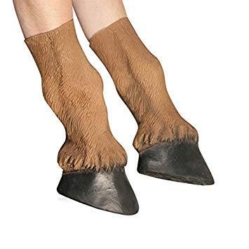 Casavidas Erwachsene Latex Pferdehufe Halloween Kostüm Handschuhe ()