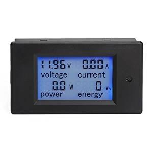 JSDL Digital Multimeter 6.5-100V 20A Voltmeter Ammeter Power Energy Monitor Panel Meter Electricity Meter LCD Blue Backlight Display with Transformer CT