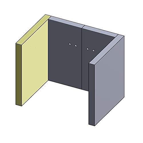 PUR Schamotte Wandstein 320x285x30mm (Vermiculite)