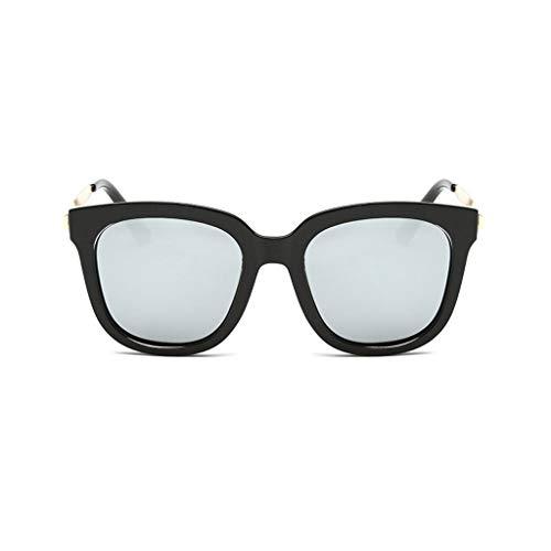 Leluo Damenmode verspiegelte polarisierte Sonnenbrillen Vintage-Brillen Vintage-Brillen für das Fahren von Reisen (Color : Silver)