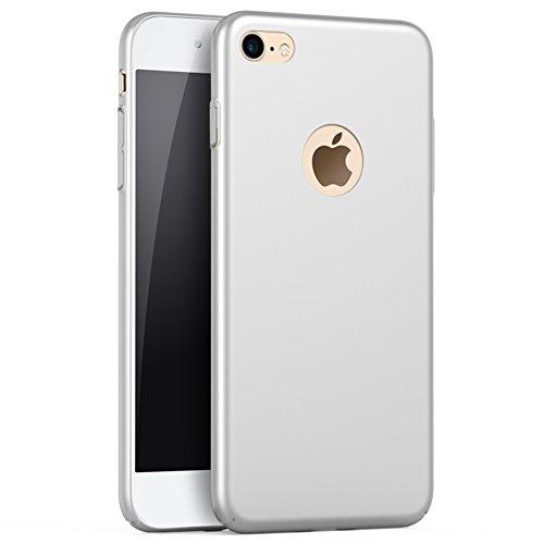 """Schwarz Sehr Dünn Hülle Schutzhülle Case + Displayschutzfolie für Apple iPhone 8 (4.7"""") Vooway® MS70451 Silber"""