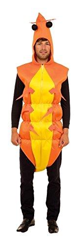 Bristol Novelty AC470 Garnele Kostüm, Unisex, gelb, - Garnelen Kostüm Für Erwachsene