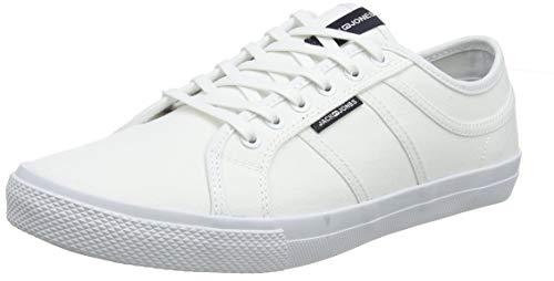 JACK & JONES Herren JFWROSS Canvas Bright White STS Sneaker, Weiß, 45 EU