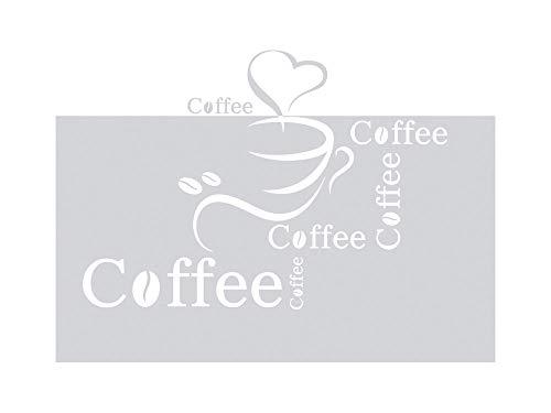 GRAZDesign 980067 Sichtschutzfolie Küche Schriftzug Coffee…   Fensterfolie zur Deko/Sichtschutz   Glasdekorfolie blickdicht