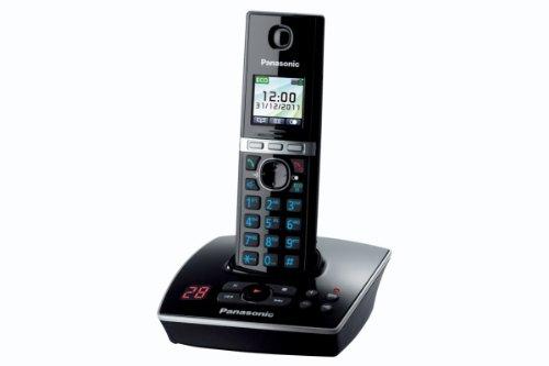 Panasonic KX-TG8061 - Teléfono (Teléfono DECT, Altavoz, 200 entradas, Identificador de Llamadas, Servicios de Mensajes Cortos (SMS), Negro)