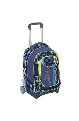 TROLLEY SEVEN NEW JACK - BUNDLE BOY - Blu Giallo - SGANCIABILE e LAVABILE - Scuola e viaggio