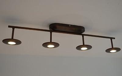 Massive 4er Power LED Deckenbalken dimmbar - Energiesparen mit nur 4x 7.5 Watt von Philips auf Lampenhans.de