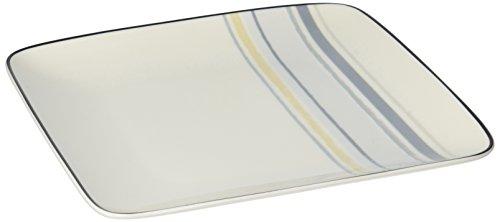 Noritake Java Graphite Swirl 7-1/2-Inch Square Plate by Noritake Noritake Java-graphit