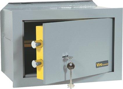 """VIRO Cassaforte Meccanica """"CASASICURA"""" da incasso con chiave a doppia mappa n.4552.20 (200 x 310 x 200 mm)"""