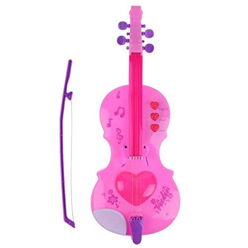 XuBa 4 Saiten Musik Elektrische Violine Kinder Musikinstrumente Lernspielzeug Kinder Musik Geige Spielzeug Geschenk Rose