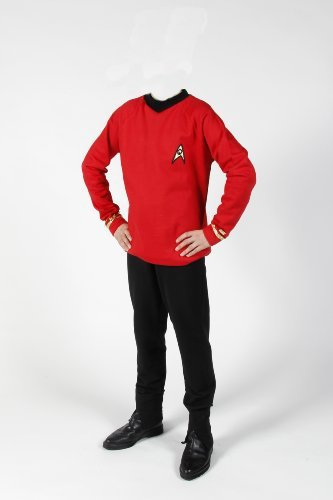 erie - Raumschiff Enterprise - Uniform Oberteil + Hose - Rot - Super Deluxe (Star Trek Original Serie Kostüme)