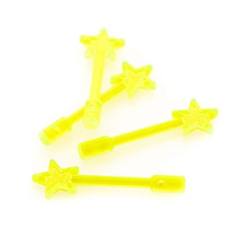 Bausteine gebraucht 4 x Lego System Zauberstab transparent neon grün Figuren Zubehör Zauberer Fee Weihnachtsstern Baumspitze 71040 40058 4841 10229 6124 (Lego 10229)