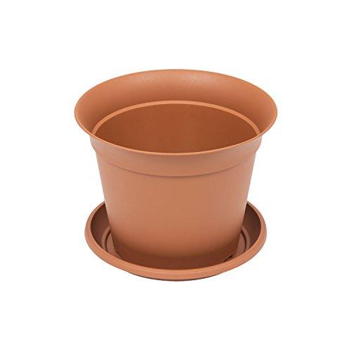 Pot de fleur Romantica avec soucoup, capacité 1.75 Ltr