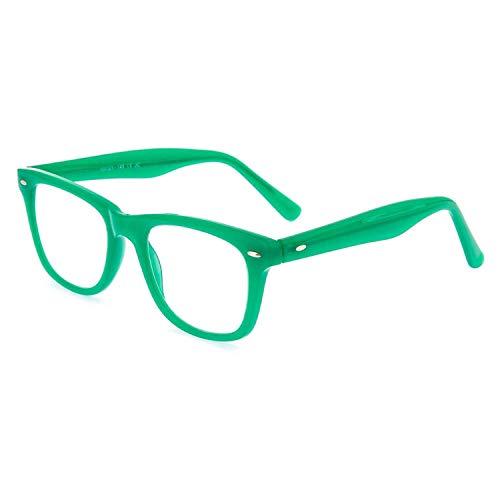 DIDINSKY Gafas de lectura graduadas para hombre y mujer transparentes. Gafas de presbicia wayfarer para hombre y mujer para vista cansada. Water Green +2.0 – GETTY
