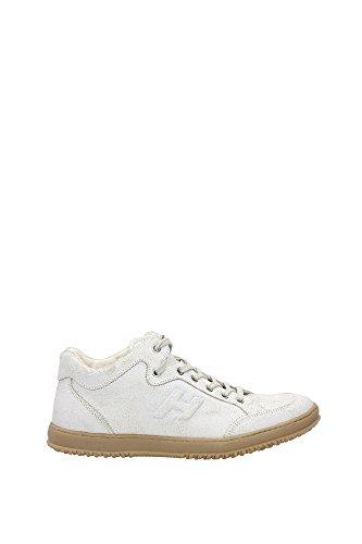 HXM1680D2105HXB001 Hogan Sneakers Uomo Pelle Bianco Bianco