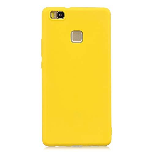 cuzz Custodia Huawei P9 Lite+{Film di Vetro temperato}Silicone TPU Cover Morbida Protettiva Custodia Ultra Sottile Leggero Cover-Giallo