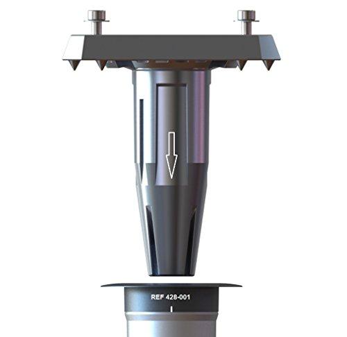 Gard & rock - piede ombrellone a sospensione, amovibile in alluminio - multi-terreno da inserire sulla base d'ancoraggio - fissaggio amovibile senza ingombro