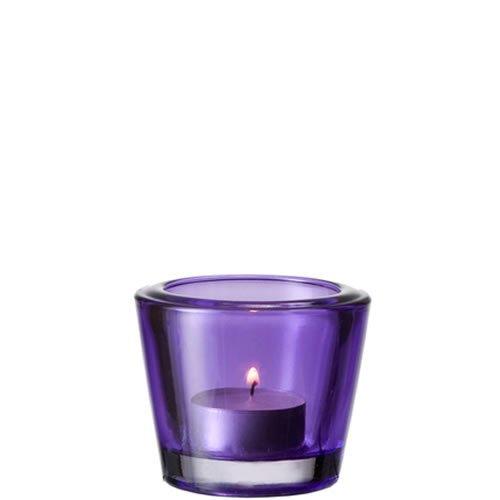 Leonardo Soporte para Velas de Té Contessa, Cristal, Violeta, 84021