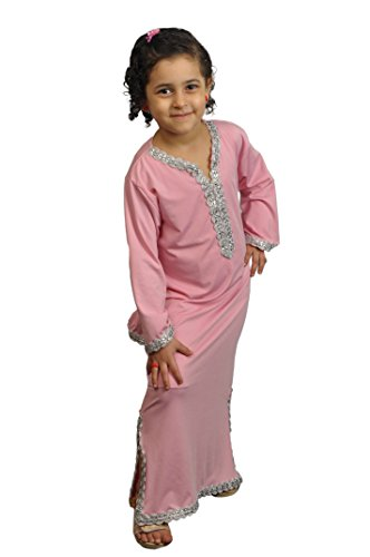 Egypt Bazar Kinder Kaftan - Faschingskleid (146/152, Rose) -