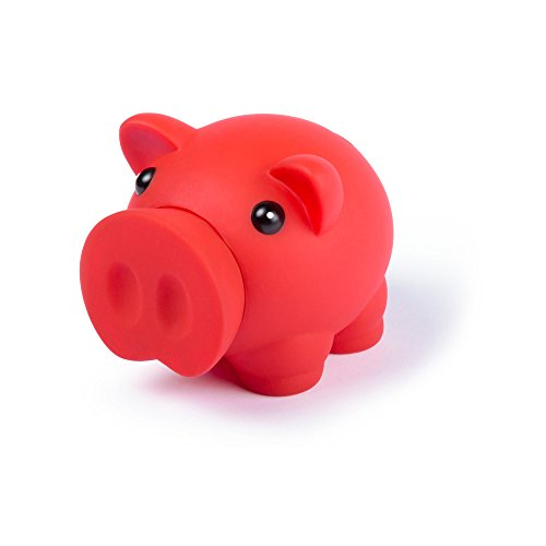 eBuyGB 1274705Sparschwein Piggy für Münzen und Bargeld –Kinder-Spardose (rot)