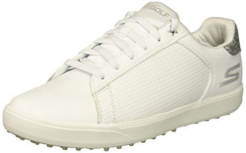 Skechers Go Golf Drive Shimmer Scarpe da Golf, Donna (38 EU, Bianco)