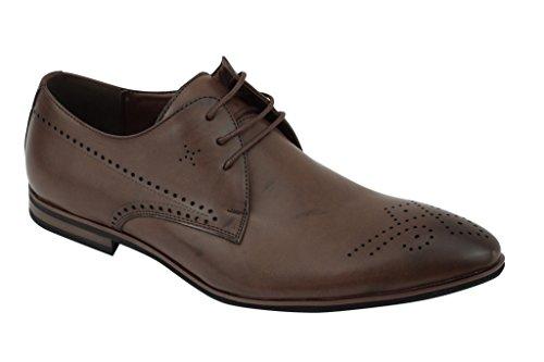 Kleid Schuhe 9 Schwarz Größe (Xposed Herren New Schwarz Braun Hellbraun Leder Smart Casual Formale Spitze bis Derby Kleid Schuhe Größe UK 67891011, Braun - Braun - Größe: 39)