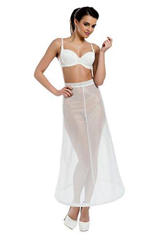 MGT-Shop Damen Reifrock Crinoline Braut Reifrock Petticoat Unterrock für Brautkleider Hochzeitskleider Ballkleider Abendkleider 36-44 HM4-190 ivory/creme
