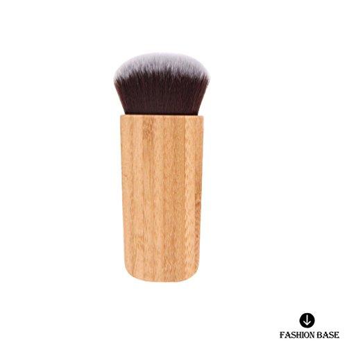 Fashion Base® professionnel plat en bambou Contour Blush Kabuki Blush Brosse à poudre Fond de teint Cosmétique Pinceaux de maquillage Outil