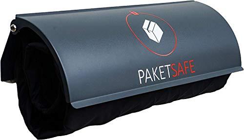 PAKETSAFE - platzsparender Paketsack mit hochwertiger Edestahloptik, anthrazit