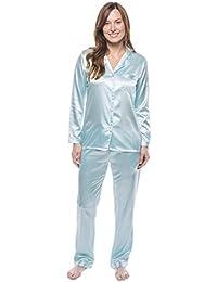 Twin Boat Conjunto Pijama de Satín para Mujer