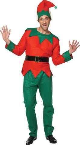 Mens Deluxe Christmas Elf Santa's Little Helper Fancy Dress Festive Xmas - Little Christmas Elf Kostüm