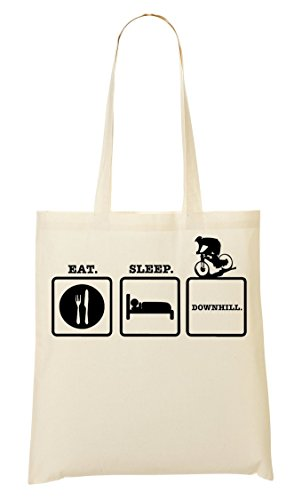 Eat Sleep Downhill Bicycle Sac Fourre-Tout Sac À Provisions