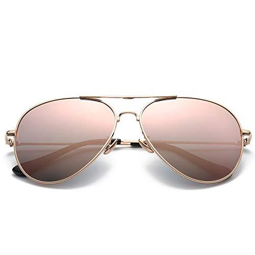 Yangjing-hl Herren Metall Sonnenbrille Farbfilm Dekorative Sonnenbrille Trend Driver Brille Gold Frame Kirschblüten