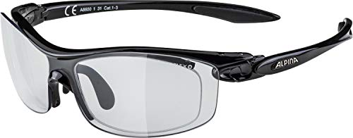 Alpina Sonnenbrille Optic-Line PSO TWIST FOUR VL Outdoorsport-brille, Black, One Size