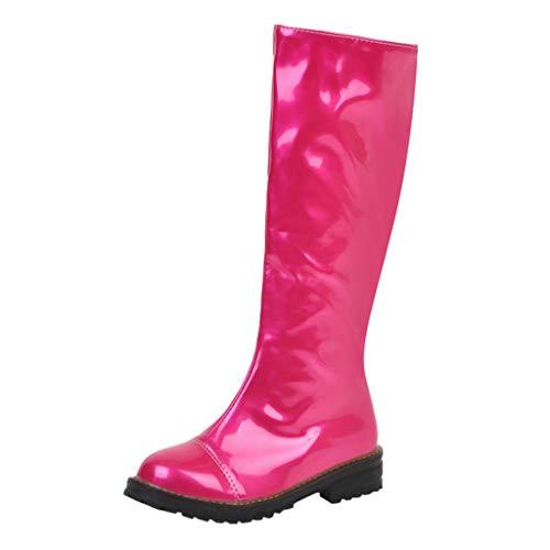 Kriosey-Damen Stiefel Overknees Warm Gefüttert Frauen Lang Stiefel Overknee High Heels Frau Abendschuhe Booties Socken Stiefel Flat Heels Reitstiefel Profilsohle Leder Schlupfstiefel -