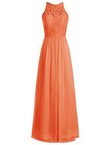 Bbonlinedress Robe de cérémonie Robe de demoiselle d'honneur longueur ras du sol Orange