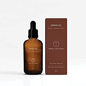 Bare Anatomy 100% Pure & Natural Moroccan Argan Oil   For Hair Growth, Face, Body, Hands & Nails - 50ml
