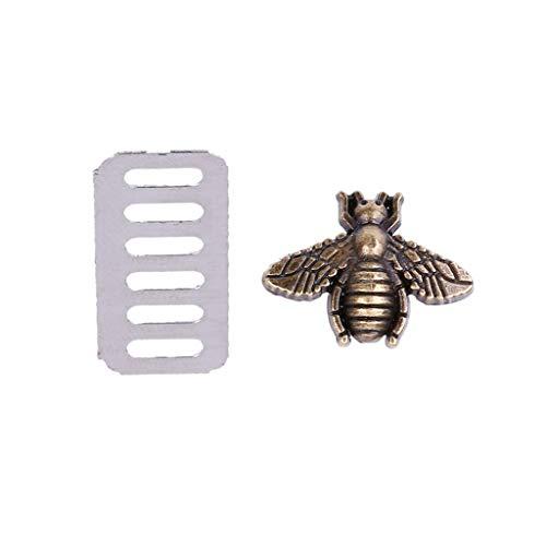 Metall-Bee Bag Dekoration Hardware für DIY Handtasche Basteln Kuriertasche Umhängetasche bronze