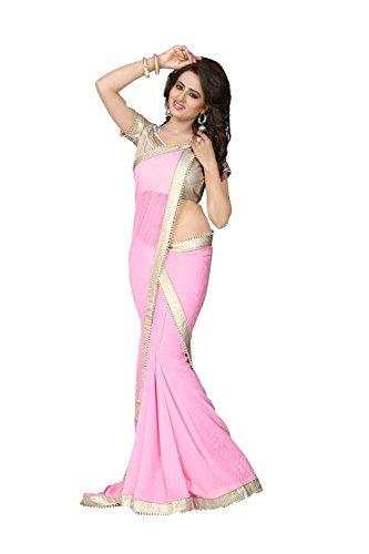 Da Facioun Indian Women Designer Party wear Pink Saree