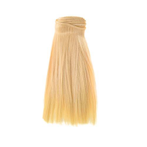 TianranRT 1PC Mode 15X106Cm Großhandel Gerade Haar Haar Für DIY/BJD Perücke Puppe (E)