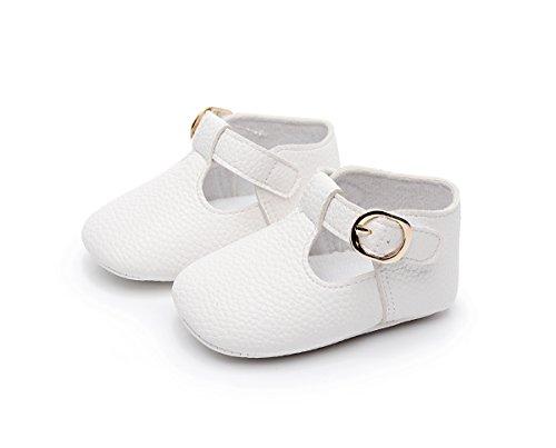 Sabe , Baby Mädchen Lauflernschuhe, Weiß - weiß - Größe: 12-18 monate  (Schuhe Weiß Leder Baby)