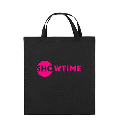 Comedy Bags - SHOWTIME - BILLIONS - Jutebeutel - kurze Henkel - 38x42cm - Farbe: Schwarz / Silber Schwarz / Pink