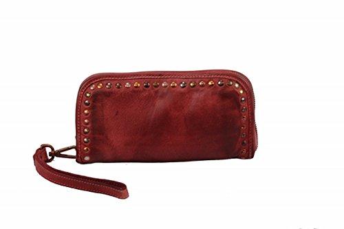 BZNA Berlin Romy red Wallet sheep Leather Leder Portemonnaie Geldbörse Clutch - Prada Red Bag