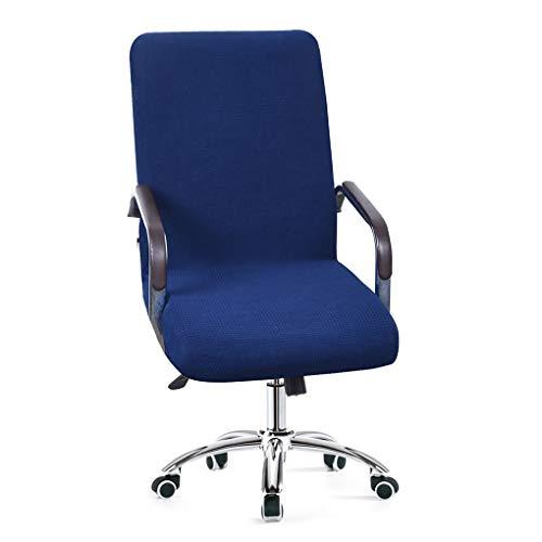 XZ Stuhlhussen Stuhlbezug Stretch Elastische Bürostühle Stuhl Schonbezug Universal Elastisch Sessel Drehen Essen Stuhl Fit Sitzschutz,2,L (Sicher Fit Sessel Schonbezug)