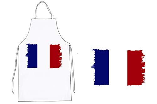 MERCHANDMANIA Delantal Bandera DE Francia Cocina Kitchen