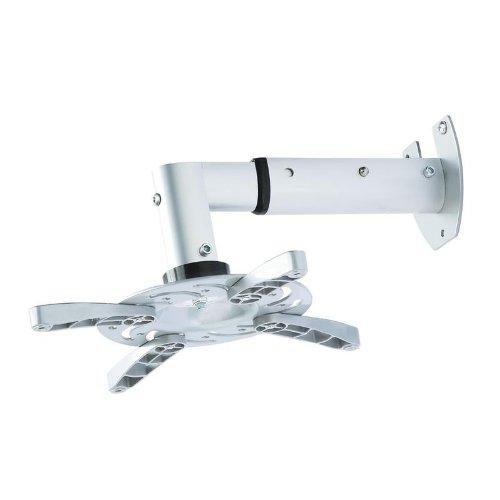 Beamer / Projektor Wandhalterung weiß ausziehbar von 25,5cm bis 33cm 30° neigbar 180° drehbar für Epson EH-TW6100