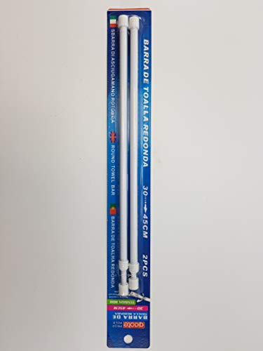 PROP POLE Gardinen Stange Klemmstange ausziehbar 2er Pack (30cm-45cm)